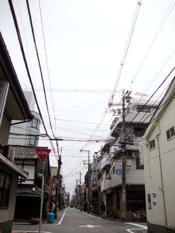 京都の電線